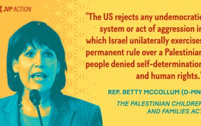 JVP Action is proud to endorse The Palestinian Children and Families Act